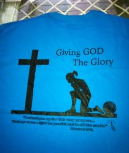 Giving God the Glory t-shirt back