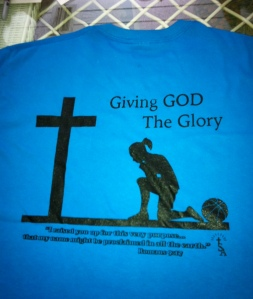 Giving God the Glory t-shirt back
