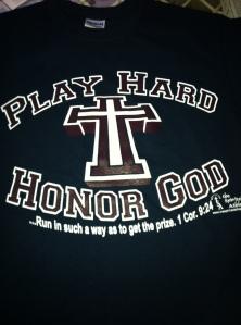 Play Hard Honor God t-shirt navy