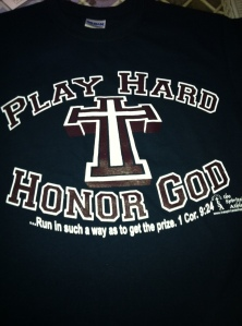 Play Hard Honor God t-shirt navy