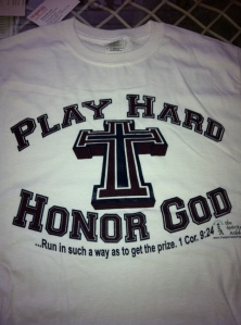 Play Hard Honor God t-shirt white